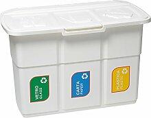 DEA Home Mülltrennsystem #Z433 - 3 x 25 Liter Inhalt weiß