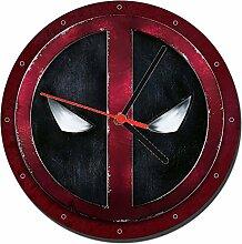 Deadpool Logo Wanduhren Wall Clock 20cm