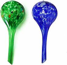 dealglad 2Glas Ball automatischen Bewässerung, kugelförmig, für Pflanzen Blumen, Bewässerungshilfe, 15x 6cm