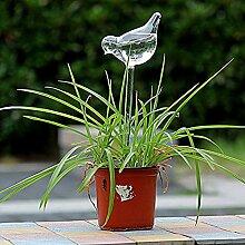 dealglad® Bird Form Transparente Glas-Selbstwässernder Garden stylischer Automatische Bewässerung für Pflanzen