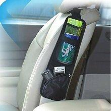 dealglad® Hohe Qualität Multifunktions bequem Auto Fahrzeug Stuhl Seite zum Aufhängen Beutel Aufbewahrung Beutel Schmutz Tasche, Textil, schwarz, 38x11.5cm