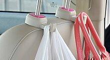 dealglad® Praktische High Qualität Auto KFZ Rücksitz Kopfstütze Anheben Hebel Haken Staubbeutel Kleiderbügel Veranstalter Halter, ABS, Rot, 97.5*52*28mm