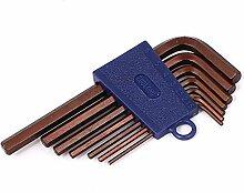 DealMux 1.5mm-6mm S2 Hex Key Set Fahrrad-Auto-Start DIY Schraubenschlüssel Werkzeuge 7 in 1