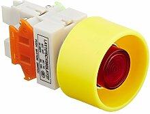 DealMux 24V Lampe 1NO 1NC Stromstoß Push Button Switch, 22mm