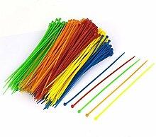 DealMux 3x200mm Netzwerk-Kabel-Schnur-Draht Nylonkabelbinder verschiedene Farben 500pcs