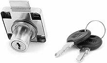 DealMux 40mm x 40mm Schrank Kabinett-Fach-Tresor Tubular Lock-Silber-Ton