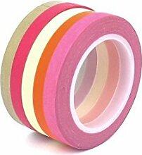 DealMux 5mm x 10m DIY Papier-Aufkleber Dekorative