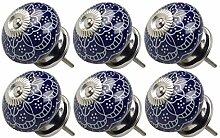 DealMux 6 stücke Keramikknöpfe Vintage Knob