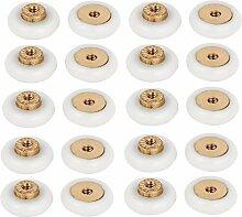 DealMux Badezimmer Wandschrank 18mm Raddurchmesser Sliding Riemenscheibe Roller Bearing 20Pcs