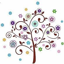 DealMux Baum-Muster PVC Wasserdicht DIY-Kunst-Abziehbild-Wand-Aufkleber-Dekoration