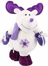 DealMux Baumwollmischungen Familie Dekoration Weihnachten handgemachte Puppe Geschenk Weiß Lila
