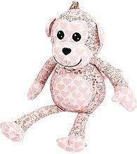 DealMux Blumen-Muster Kugel-Ketten-Beutel-Dekoration Affe-Puppe-Spielzeug Hellrosa