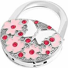 DealMux Blumen Schmetterling Decor Vorhängeschloss faltbare Handtasche Haken Kleiderbügel