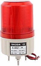 DealMux DC 24V Industrieturm Blinksignal Rote Lampe Alarmleuchte Summer
