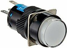 DealMux DC 24V Lampe Panel SPDT verriegelnd Druckschalter mit Steckverbinder