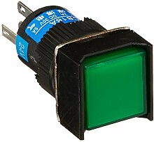 DealMux DC 24V Lampe SPDT Locking Druckknopfschalter mit Crimpsteckverbinder