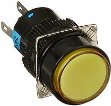 DealMux DC 24V Lampe SPDT verriegelnd Druckschalter mit Buchsenleisten