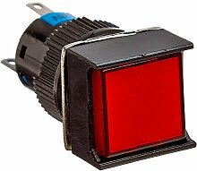 DealMux DC 24V Lampe SPDT verriegelnd Druckschalter mit DIY Anschlussklemmen