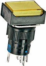 DealMux DC 24V Momentary Lampe Rechteckige Push Button Switch