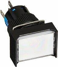 DealMux DC 24V Pilot Lampe SPDT Locking Druckschalter mit Federleisten