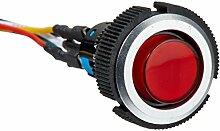 DealMux DC 24V SPDT Locking Lampe Druckschalter mit Flachstecker, 22mm