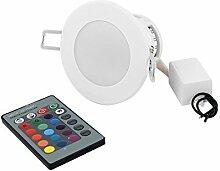 DealMux Decken-Dekoration Scheinwerfer-Licht RGB-LED-Lampen-Birne 3W Wechselstrom-85V-265V w Fernbedienung