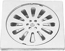 DealMux Edelstahl Waschbecken Bodenablauf, 4, Silber Ton