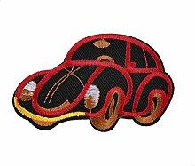 DealMux Eisen auf Rot Schwarz Bestickt Car Design