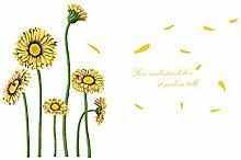 DealMux englische Sätze Sunflower Muster Abnehmbare Wandaufkleber Tapete Dekoration