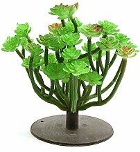 DealMux grüne Kunststoff-Aquarium Terrarium Pflanzen Zierde für Reptilien w runde Basis