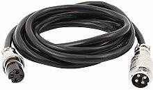 DealMux GX16 4 Pin Stecker / Buchse Leiter Aviation-Buchse Elektrische Kabel 2m