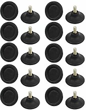 DealMux Haushalt M8 x 15mm Kunststoff-Basis runde Nivellierungsgleitstückanordnung Füße Schwarz 20pcs