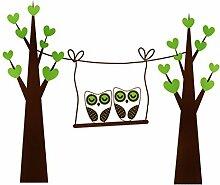 DealMux Herz-Bäume Gedruckt Schlafzimmer