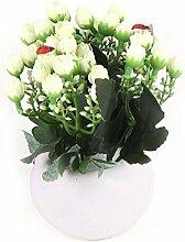 DealMux Home Office Tabletop Windowsill Regal Dekorative künstliche Blume Topfhellgelb