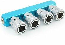 DealMux Industrierohrluftschlauch Multi Four Way Pass Basis Pneumatische Fitting