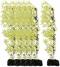 DealMux Kunststoff Aquarium Blatt Imitate Gras Pflanze Algen Aquascape Dekoration 6pcs