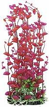 DealMux Kunststoff Aquarium Künstliche Pflanze Gras Dekoration 41cm Höhe Red Fuchsia