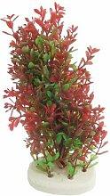 DealMux Kunststoff Aquarium Künstlicher Pflanze, 7,7-Inch, Rot / Hellgrün