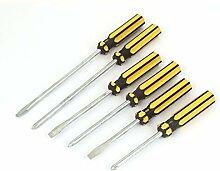 DealMux Kunststoffgriff Schlitz Phillips-Schraubendreher-Set Öffnungs-Werkzeuge 6 in 1