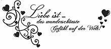 DealMux Liebes-Herz-Druck-Wasser-beständige Wandaufkleber Aufkleber-Kunst-Verzierung