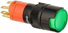 DealMux Locking Lampe 1NO 1NC Runde Push Button Switch, 16mm