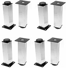 DealMux Möbel Kabinett Tabellen-Bett 38mm x 150mm Adjustable Plinth Leg 8pcs