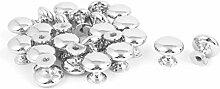 DealMux Möbel Küchenschrank Schublade verchromt Pull Knob Griff 25pcs