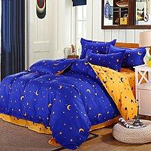 DealMux Mond-Sterne Bettbezug Kissenbezug