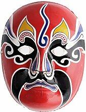 DealMux Pulp Halloween-Party-Handgemalte Gesicht Dekoration Dekor Peking-Oper Gesichts-Make-up-Maske Multicolor