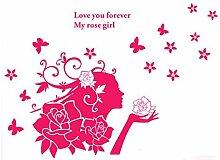 DealMux Rose Mädchen-Muster Selbstklebende