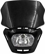 DealMux Schwarz Shell Motorrad-Street Fighter Frontscheinwerfer Verkleidungs-Lampe Hellgelb