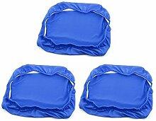 DealMux Spandex Dinning Room Elastic Waschbar Stuhl Dekoration Sitz-Schutz-Abdeckung 3pcs Königsblau