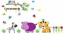 DealMux Tiere Print Nursery School Schlafzimmer