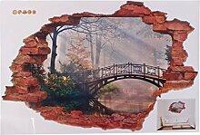DealMux Wald Brücke Muster Fenster